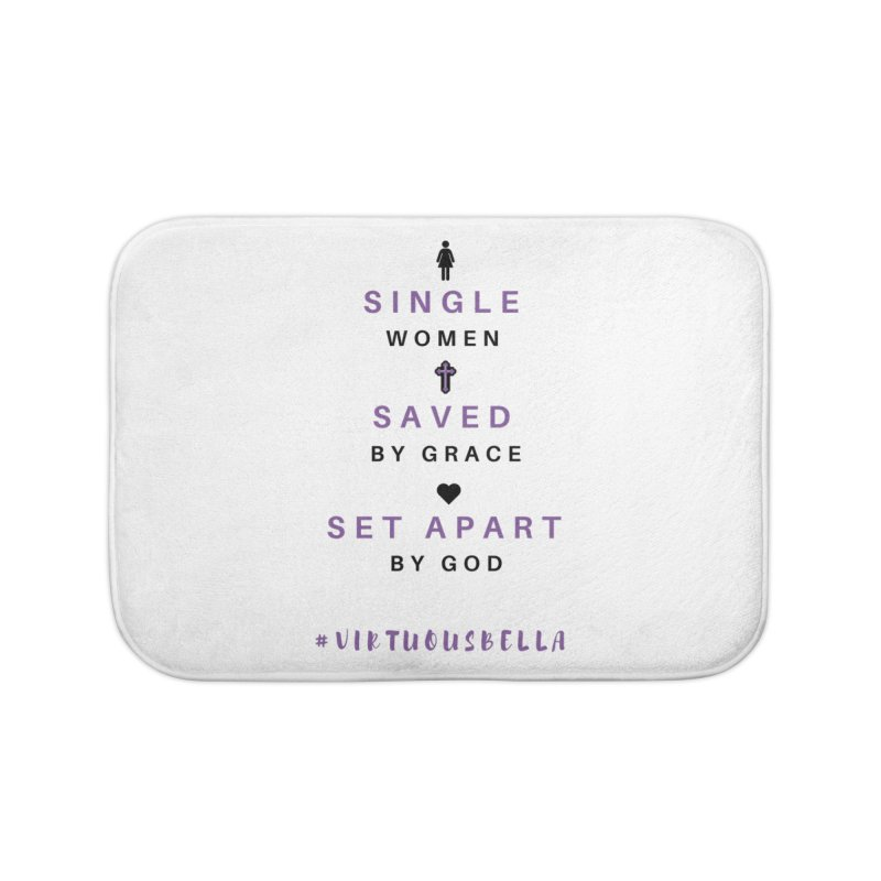 Single | Saved | Set Apart (Purple and Black) Home Bath Mat by Living Virtuous Boutique