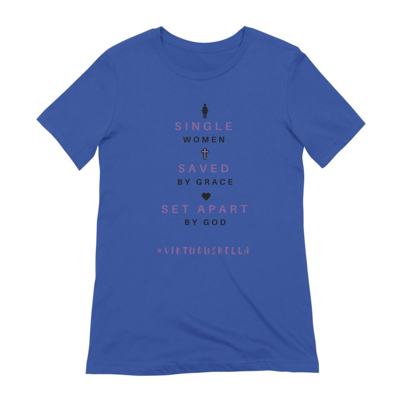 Single | Saved | Set Apart (Purple and Black) Women's Extra Soft T-Shirt by Living Virtuous Boutique
