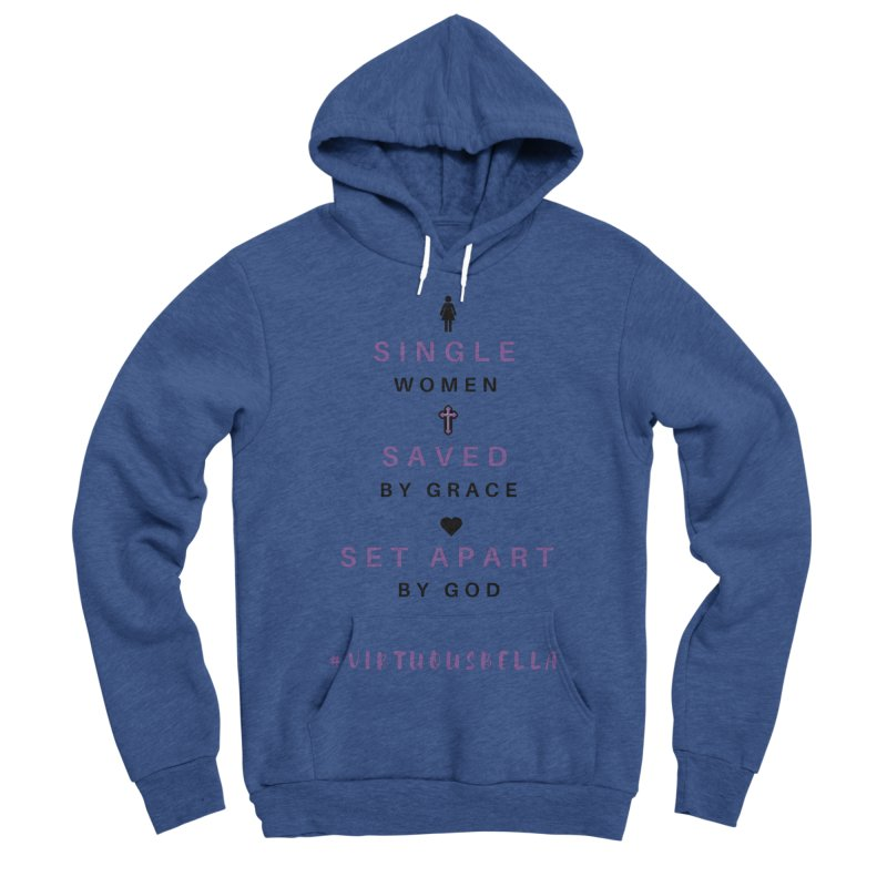 Single | Saved | Set Apart (Purple and Black) Women's Sponge Fleece Pullover Hoody by Living Virtuous Boutique