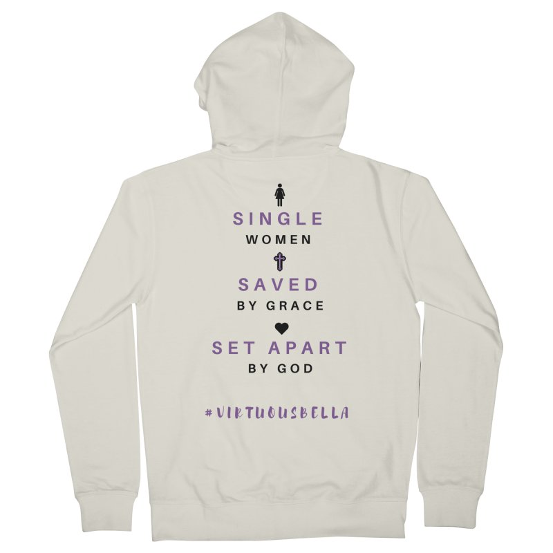 Single | Saved | Set Apart (Purple and Black) Women's French Terry Zip-Up Hoody by Living Virtuous Boutique