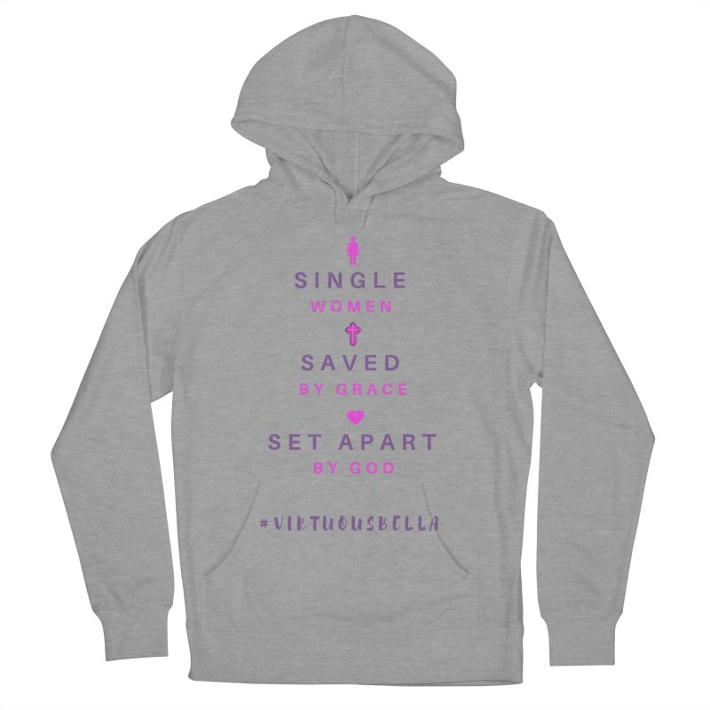 Single | Saved | Set Apart (Pink &Purple) Women's French Terry Pullover Hoody by Living Virtuous Boutique