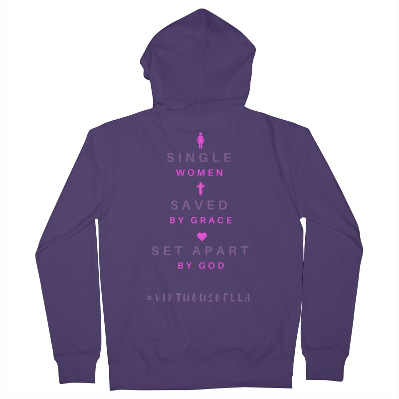 Single | Saved | Set Apart (Pink &Purple) Women's French Terry Zip-Up Hoody by Living Virtuous Boutique