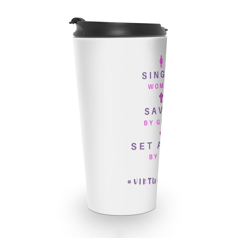 Single | Saved | Set Apart (Pink &Purple) Accessories Travel Mug by Living Virtuous Boutique