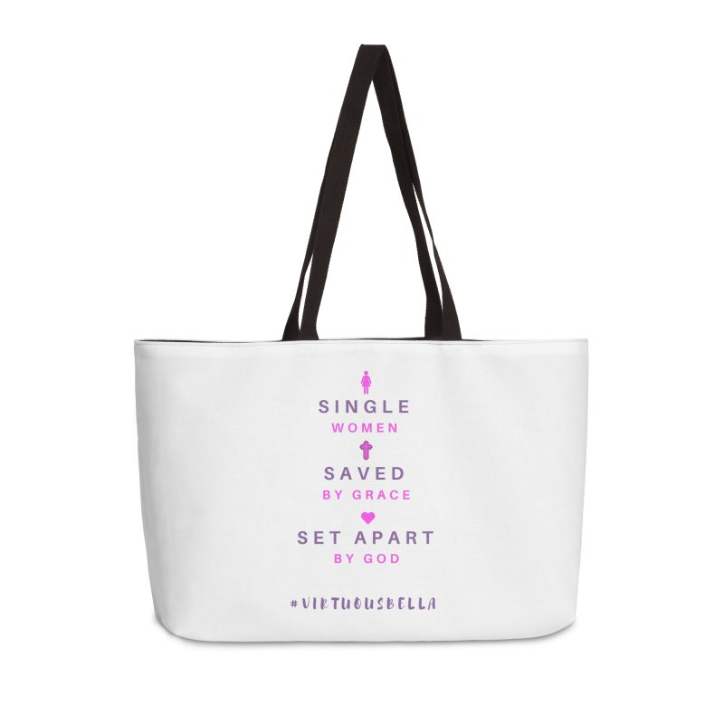 Single | Saved | Set Apart (Pink &Purple) Accessories Weekender Bag Bag by Living Virtuous Boutique