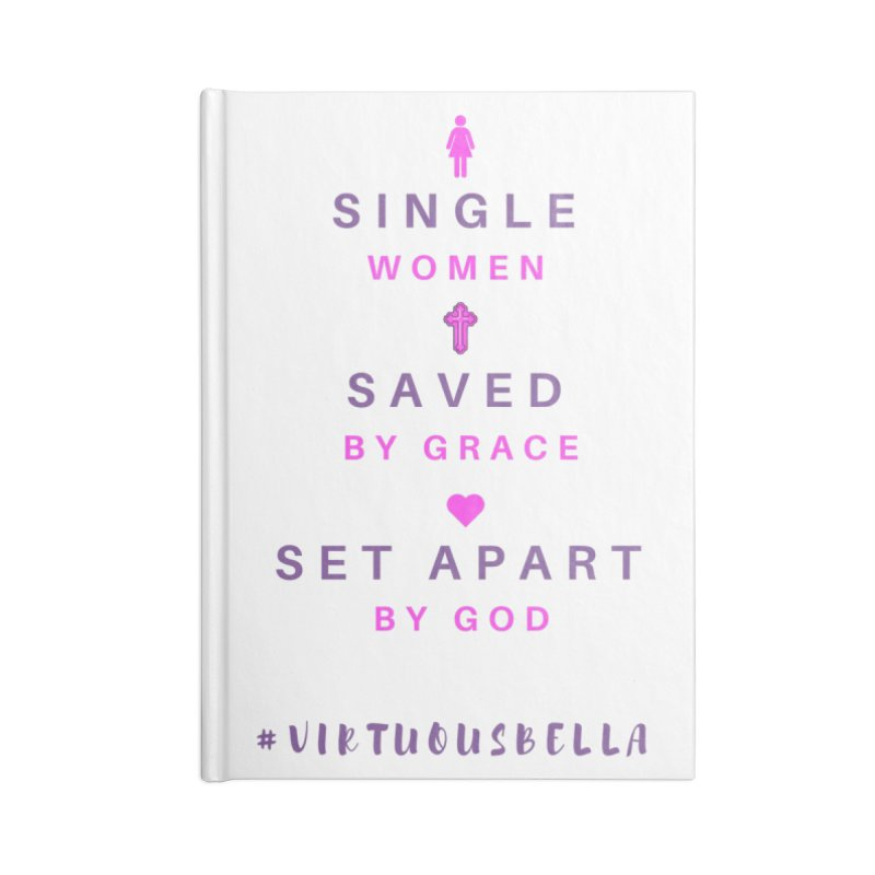Single | Saved | Set Apart (Pink &Purple) Accessories Lined Journal Notebook by Living Virtuous Boutique