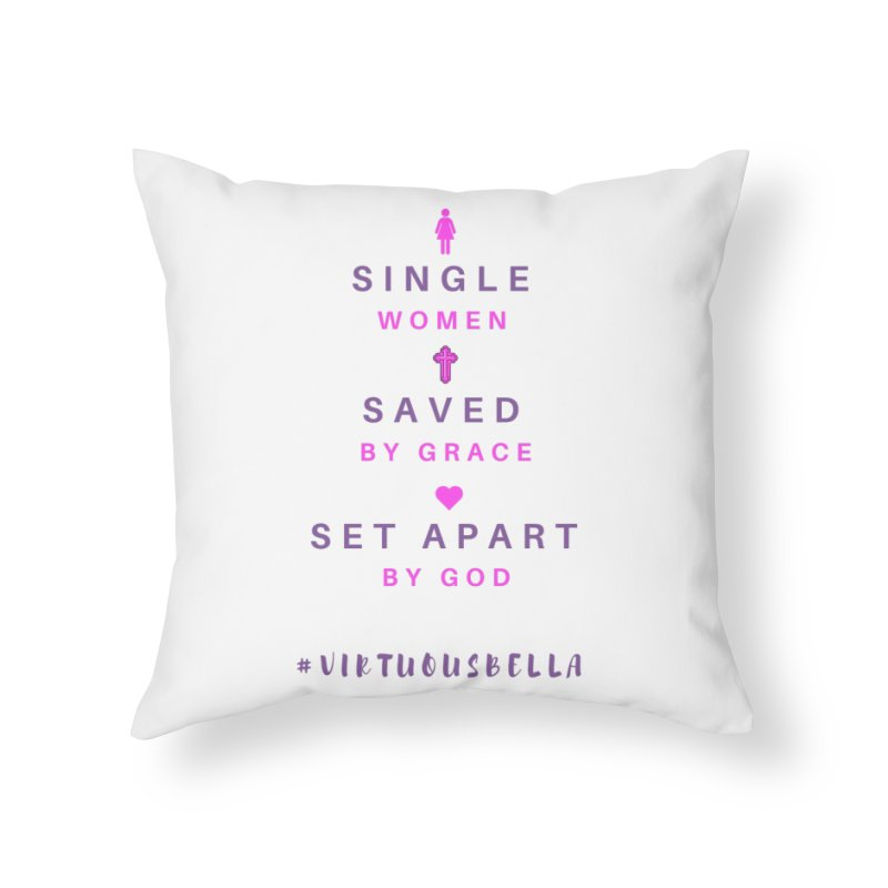Single | Saved | Set Apart (Pink &Purple) Home Throw Pillow by Living Virtuous Boutique