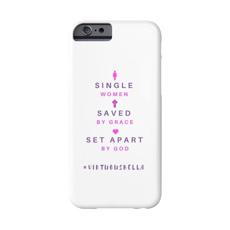 Single   Saved   Set Apart (Pink &Purple) Accessories Phone Case by Living Virtuous Boutique