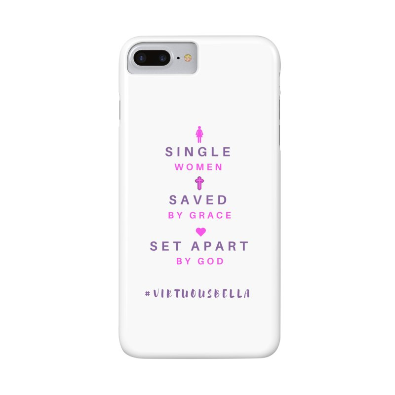 Single | Saved | Set Apart (Pink &Purple) Accessories Phone Case by Living Virtuous Boutique