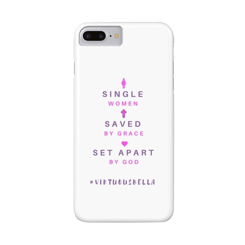 Single | Saved | Set Apart (Pink &Purple) Accessories Phone Case by Living Virtuous Boutique