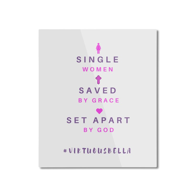 Single | Saved | Set Apart (Pink &Purple) Home Mounted Aluminum Print by Living Virtuous Boutique