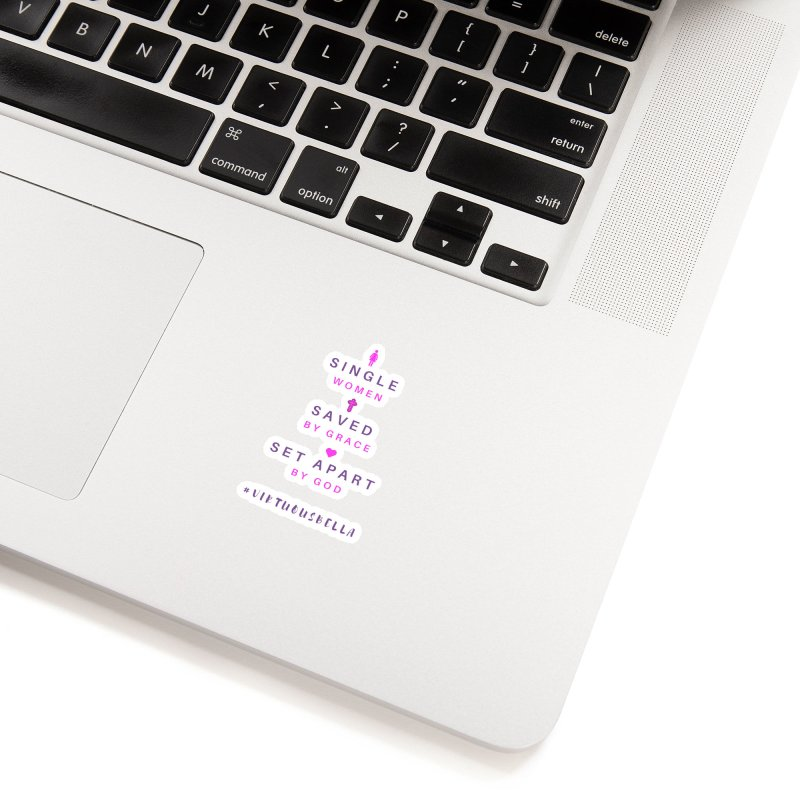Single | Saved | Set Apart (Pink &Purple) Accessories Sticker by Living Virtuous Boutique