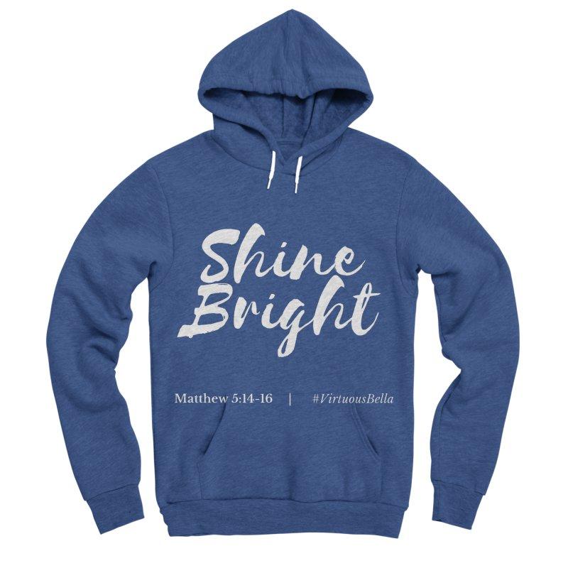 Shine Bright Purple (White Letters) Women's Sponge Fleece Pullover Hoody by Living Virtuous Boutique