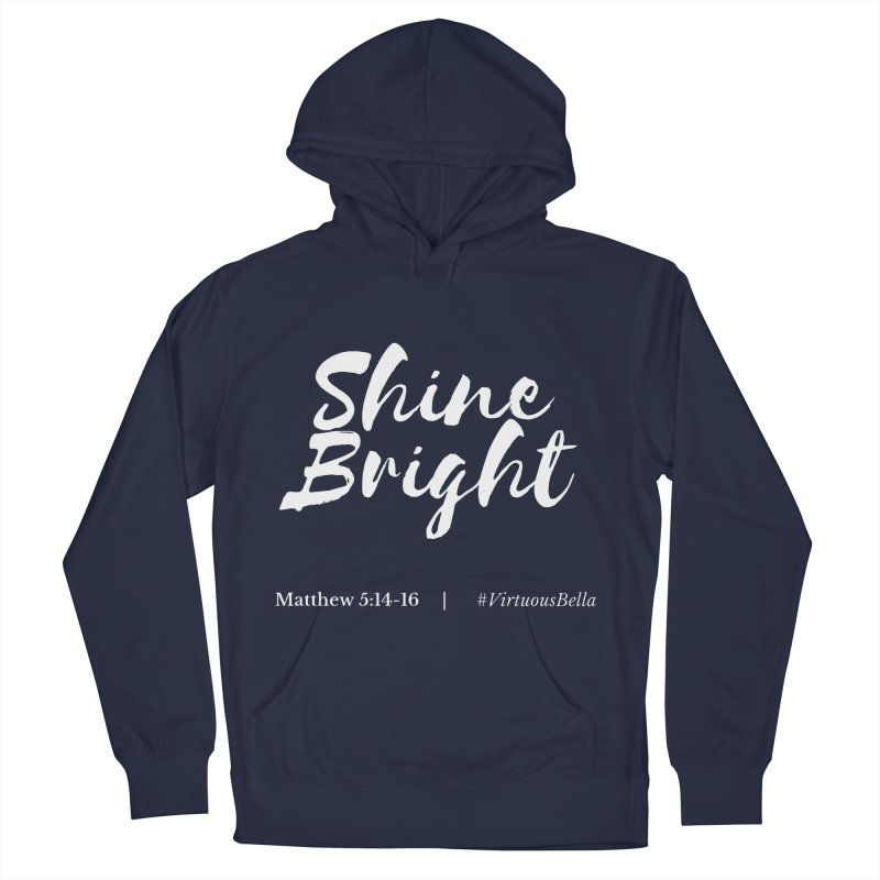 Shine Bright Purple (White Letters) Women's French Terry Pullover Hoody by Living Virtuous Boutique