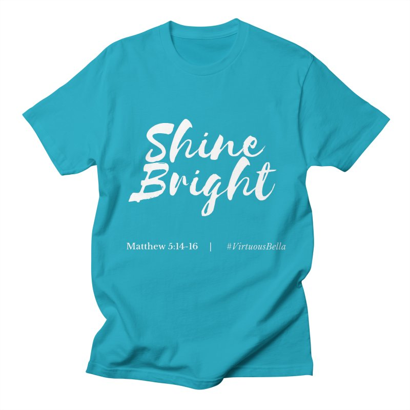 Shine Bright Purple (White Letters) Women's Regular Unisex T-Shirt by Living Virtuous Boutique