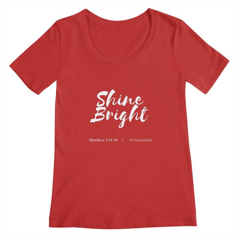 Shine Bright Purple (White Letters) Women's Regular Scoop Neck by Living Virtuous Boutique