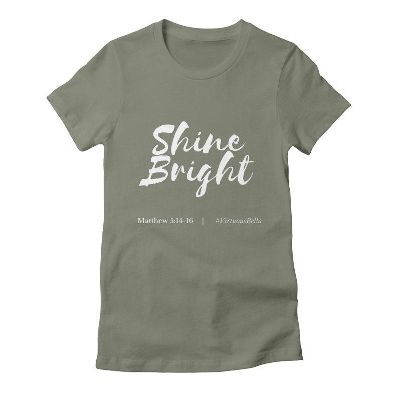 Shine Bright Purple (White Letters) Women's Fitted T-Shirt by Living Virtuous Boutique