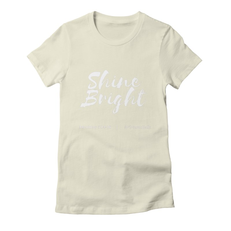 Shine Bright Purple (White Letters) Women's Fitted T-Shirt by Virtuousbella Boutique