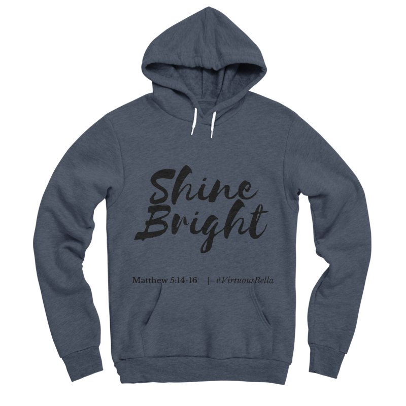 Shine Bright Hot Pink ( Black Letter) Women's Sponge Fleece Pullover Hoody by Living Virtuous Boutique