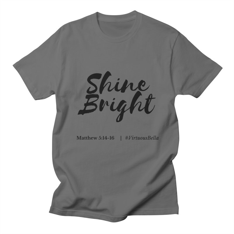 Shine Bright Hot Pink ( Black Letter) Women's T-Shirt by Living Virtuous Boutique