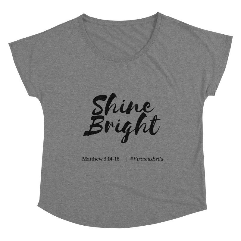 Shine Bright Hot Pink ( Black Letter) Women's Scoop Neck by Living Virtuous Boutique