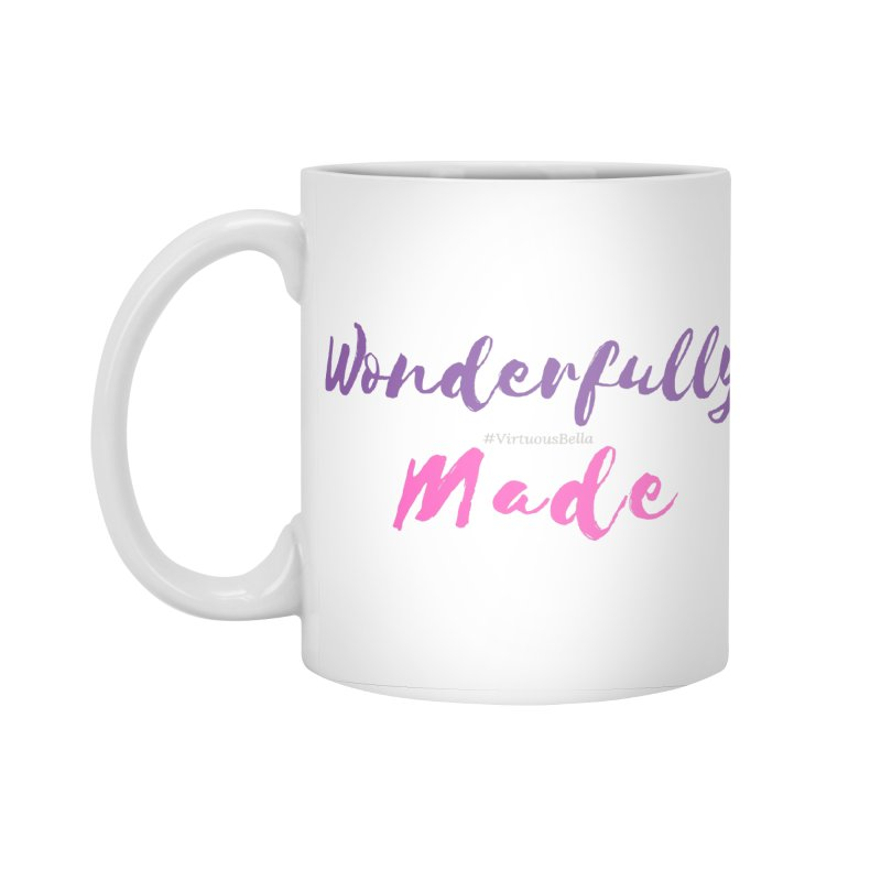 Wonderfully Made (Purple & Pink Letters) Accessories Standard Mug by Living Virtuous Boutique