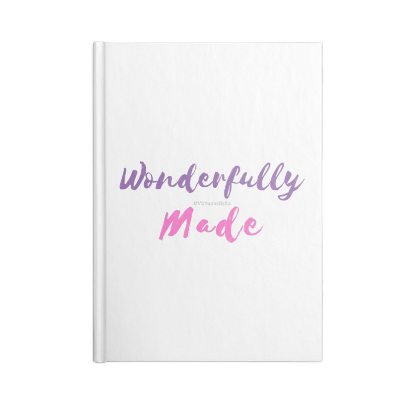 Wonderfully Made (Purple & Pink Letters) Accessories Notebook by Living Virtuous Boutique