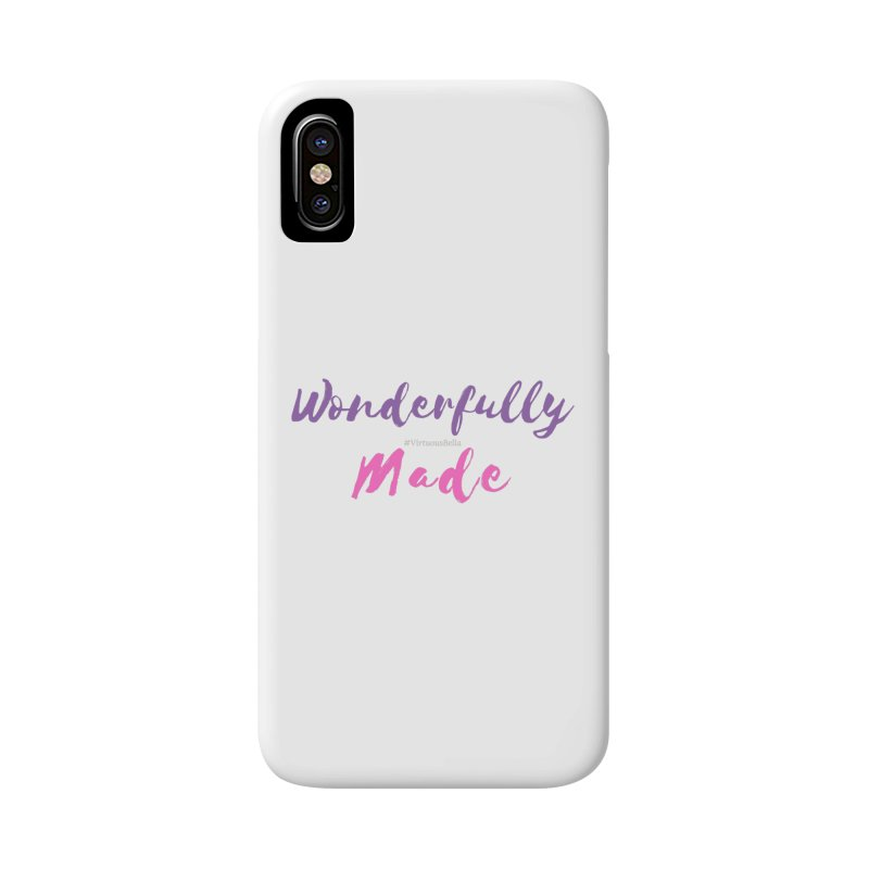 Wonderfully Made (Purple & Pink Letters) Accessories Phone Case by Living Virtuous Boutique