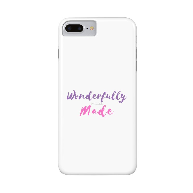 Wonderfully Made (Purple & Pink Letters) in iPhone 8 Plus Phone Case Slim by Living Virtuous Boutique