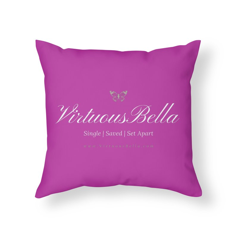 VirtuousBella Butterfly Home Throw Pillow by Living Virtuous Boutique