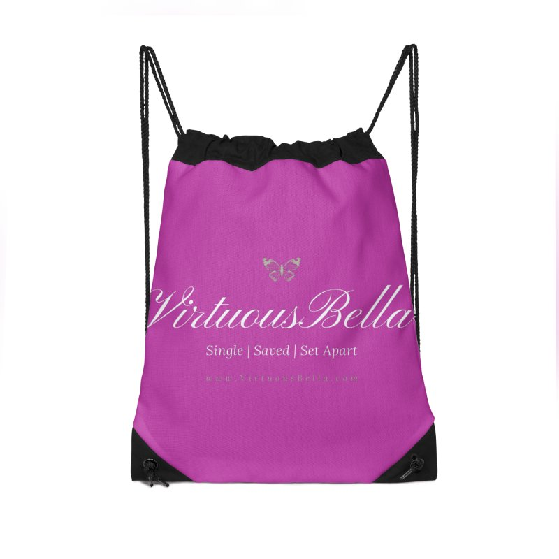 VirtuousBella Butterfly Accessories Drawstring Bag Bag by Living Virtuous Boutique