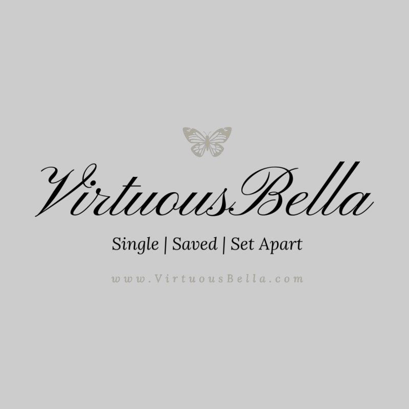 VirtuousBella Classic Black Letter Women's T-Shirt by Living Virtuous Boutique