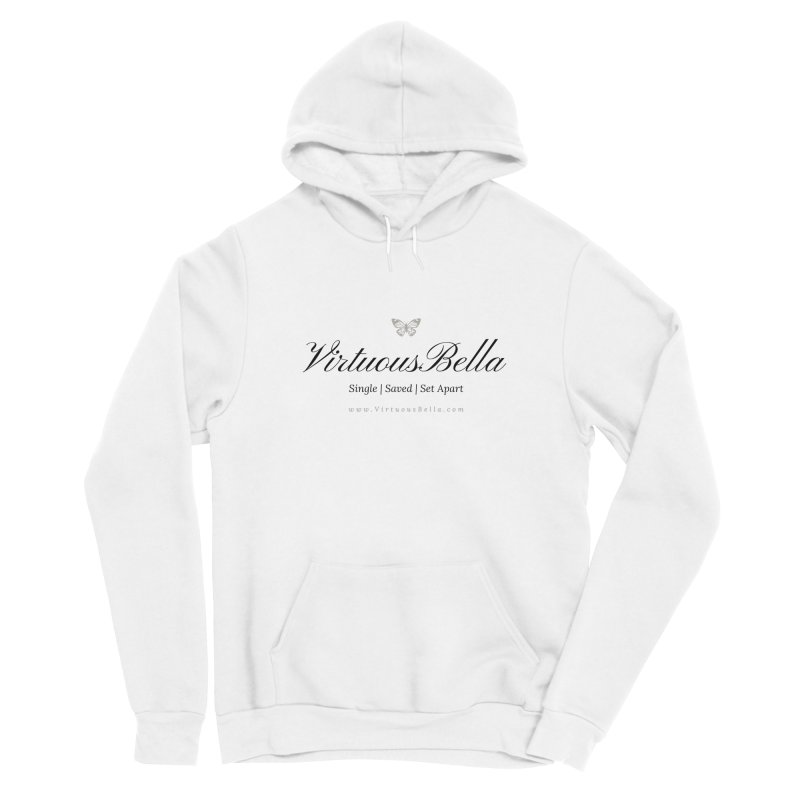 VirtuousBella Classic Black Letter Women's Sponge Fleece Pullover Hoody by Living Virtuous Boutique