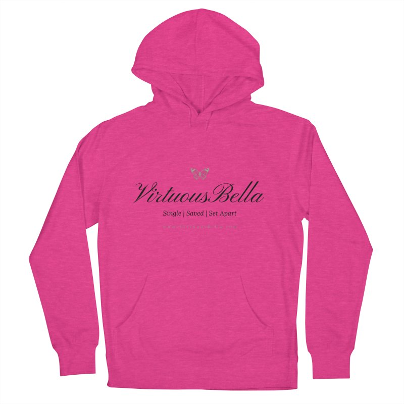 VirtuousBella Classic Black Letter Women's French Terry Pullover Hoody by Living Virtuous Boutique