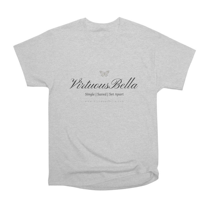 VirtuousBella Classic Black Letter Women's Heavyweight Unisex T-Shirt by Living Virtuous Boutique