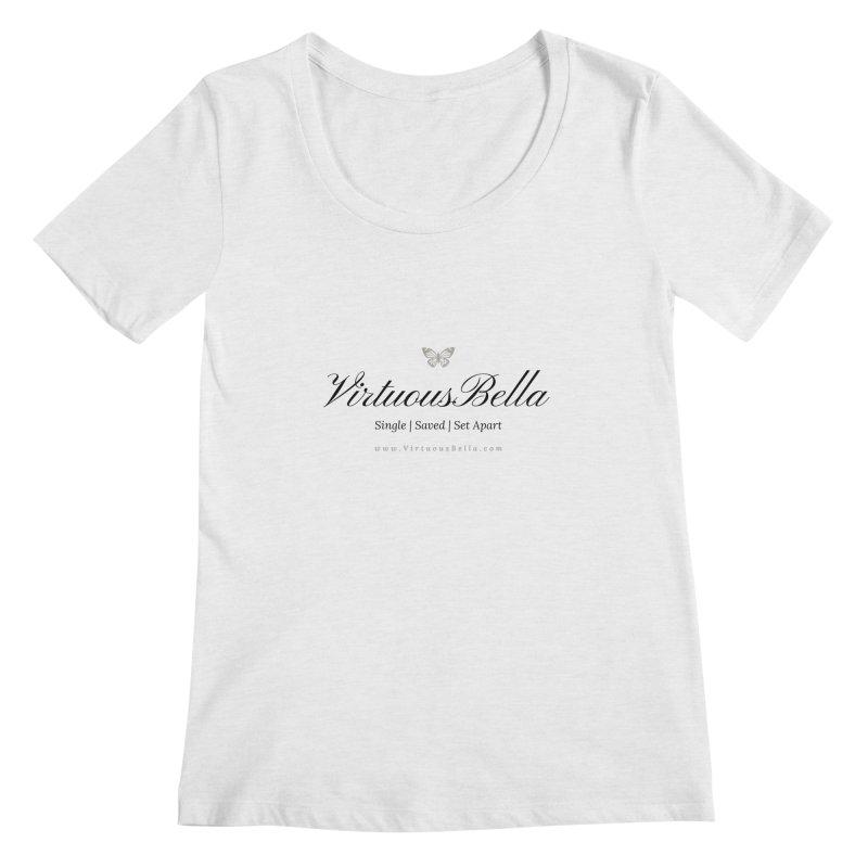 VirtuousBella Classic Black Letter Women's Regular Scoop Neck by Living Virtuous Boutique