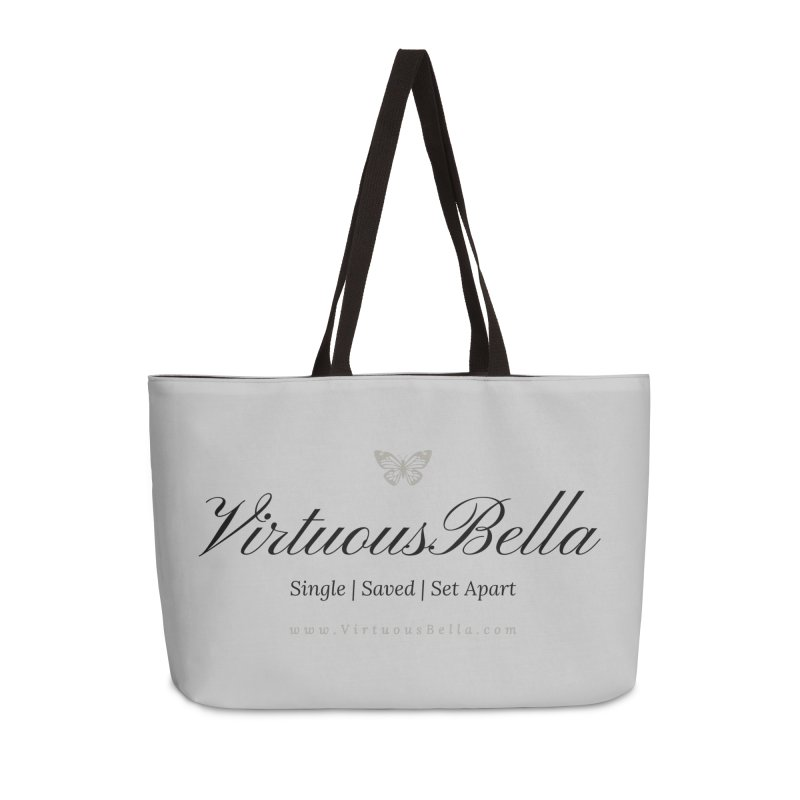 VirtuousBella Classic Black Letter Accessories Weekender Bag Bag by Living Virtuous Boutique