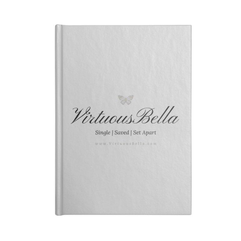 VirtuousBella Classic Black Letter Accessories Notebook by Living Virtuous Boutique