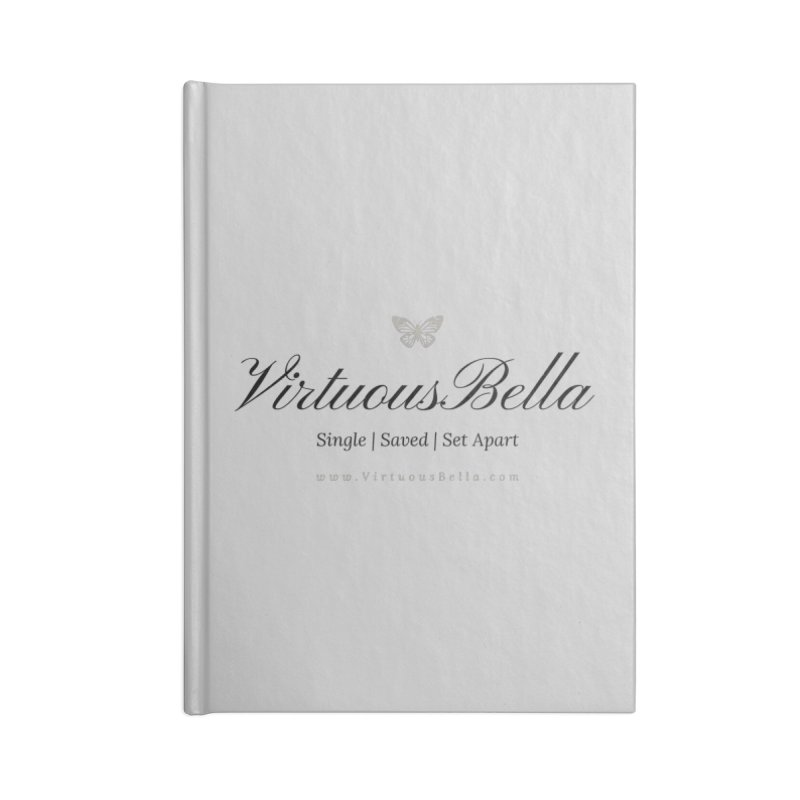 VirtuousBella Classic Black Letter Accessories Blank Journal Notebook by Living Virtuous Boutique