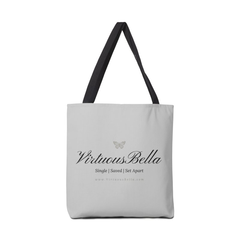 VirtuousBella Classic Black Letter Accessories Tote Bag Bag by Living Virtuous Boutique