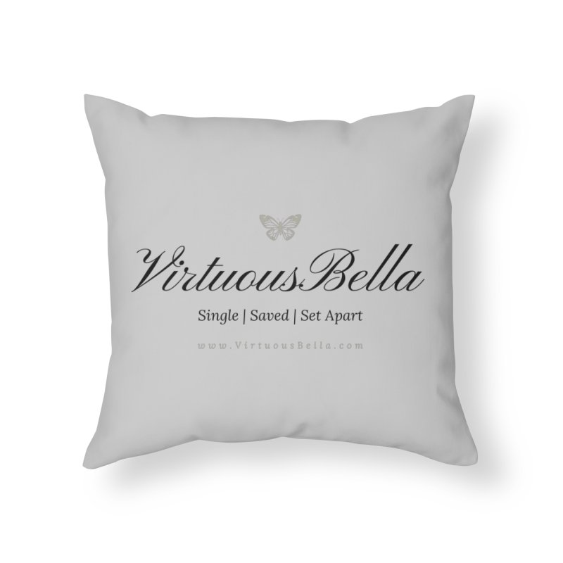 VirtuousBella Classic Black Letter Home Throw Pillow by Living Virtuous Boutique