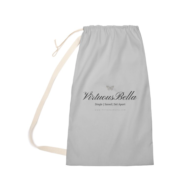 VirtuousBella Classic Black Letter Accessories Laundry Bag Bag by Virtuousbella Boutique