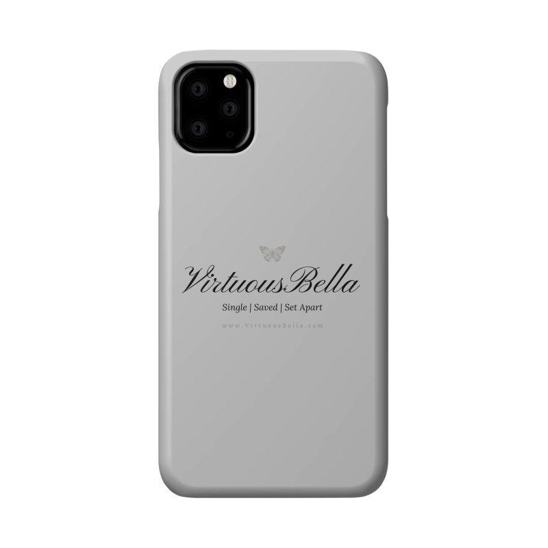 VirtuousBella Classic Black Letter Accessories Phone Case by Living Virtuous Boutique