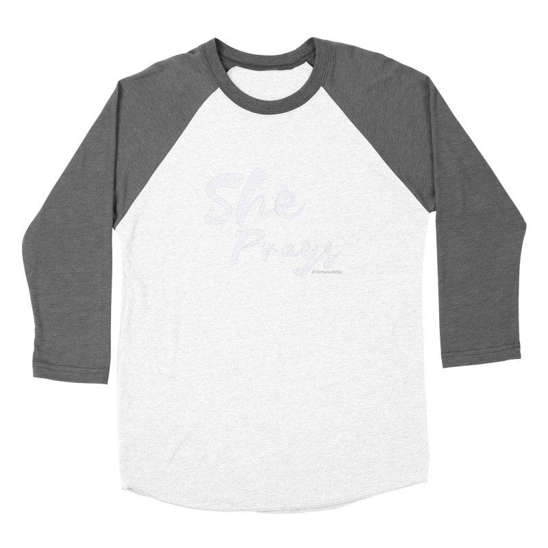 She Prays Women's Longsleeve T-Shirt by Living Virtuous Boutique