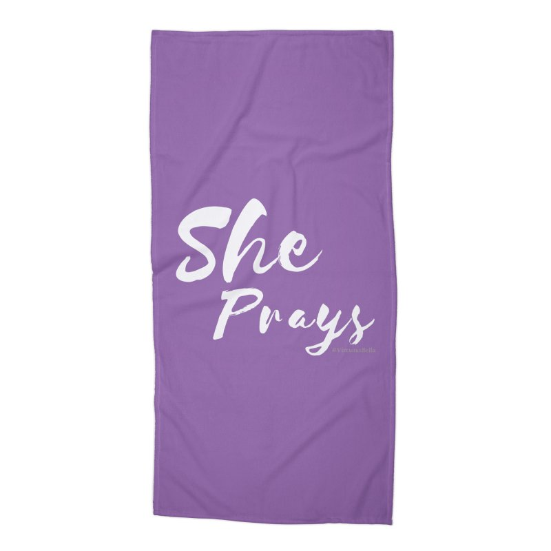 She Prays Accessories Beach Towel by Living Virtuous Boutique