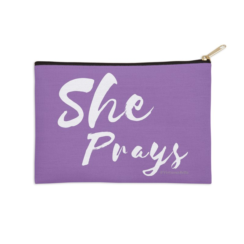 She Prays Accessories Zip Pouch by Living Virtuous Boutique