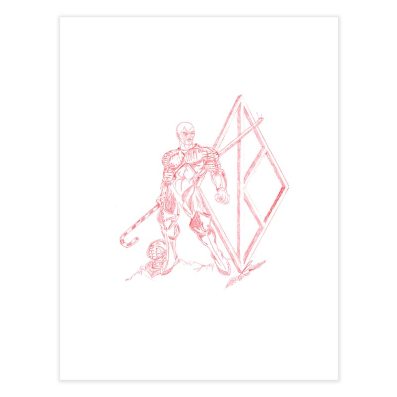 Nupe Knight Home Fine Art Print by VisualEFX Gear