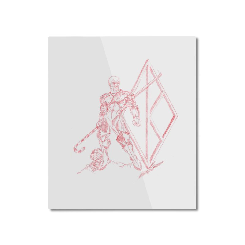 Nupe Knight Home Mounted Aluminum Print by VisualEFX Gear
