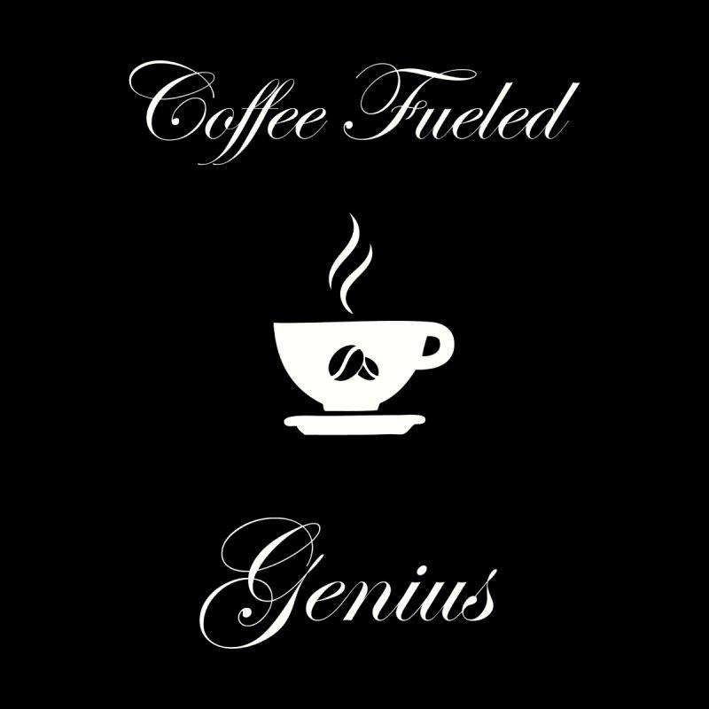 Coffee Fueled Genius Men's Zip-Up Hoody by VisualEFX Gear