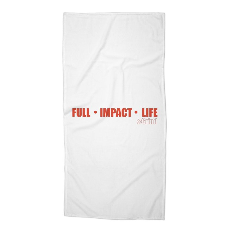 Full_Impact_Life Accessories Beach Towel by VisualEFX Gear