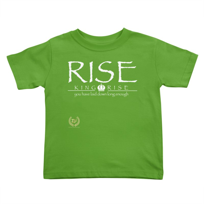 Rise King Rise_Wht Kids Toddler T-Shirt by VisualEFX Gear